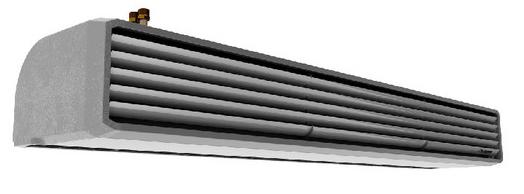 kurtyna powietrzna elektryczna i wodna ELIS T Flowair