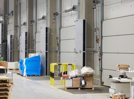 kurtyny powietrzne przemysłowe pionowe ELIS G FLOWAIR do hali przemysłowej 3
