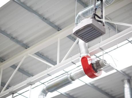 nagrzewnice wodne przemysłowe LEO FLOWAIR ogrzewanie hali 5