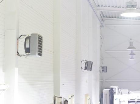 nagrzewnice wodne przemysłowe LEO FLOWAIR - ogrzewanie hali 2