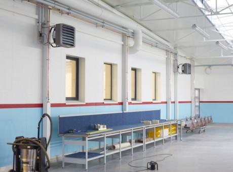 nagrzewnice wodne przemysłowe leo flowar ogrzewanie hali 1