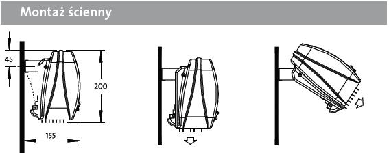Kurtyna powietrzna AC DIMPLEX - montaż ścienny