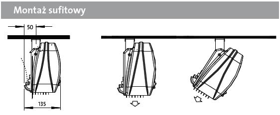 Kurtyny powietrzne DIMPLEX - montaż do sufitu