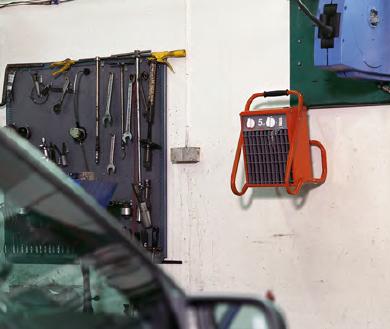 Nagrzewnice elektryczne przemysłowe FRICO TIGER na ścianie