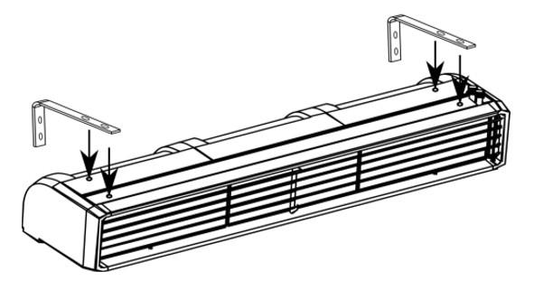 kurtyna powietrzna przemysłowa pionowa i pozioma zimna ELIS T FLOWAIR montaż ścienny