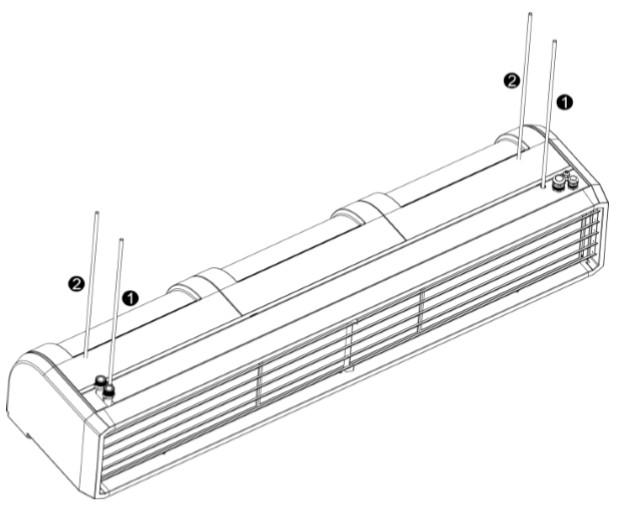 kurtyna powietrzna przemysłowa pionowa i pozioma zimna ELIS T FLOWAIR montaż do sufitu
