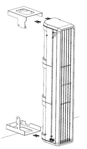kurtyna powietrzna przemysłowa pionowa ELIS T FLOWAIR montaż
