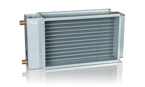 Nagrzewnice kanałowe wodne prostokątne PGV VEAB - wymiennik ciepła woda-powietrze