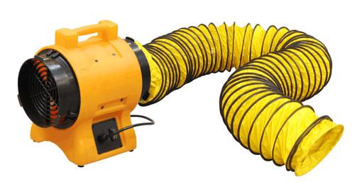 wentylator przenośny przemysłowy dmuchawa z wężem elastycznym