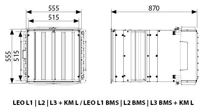 aparat grzewczo-wentylacyjny z komorą mieszania LEO L1 L2 L3 KM L FLOWAIR.jpg - wymiary