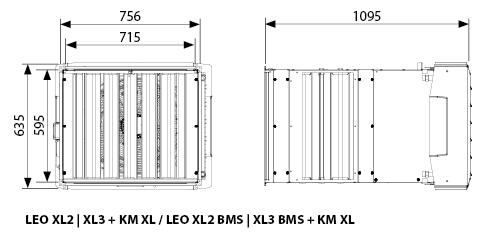 aparat grzewczo-wentylacyjny z komorą mieszania LEO XL2 XL3 KM XL FLOWAIR.jpg - wymiary