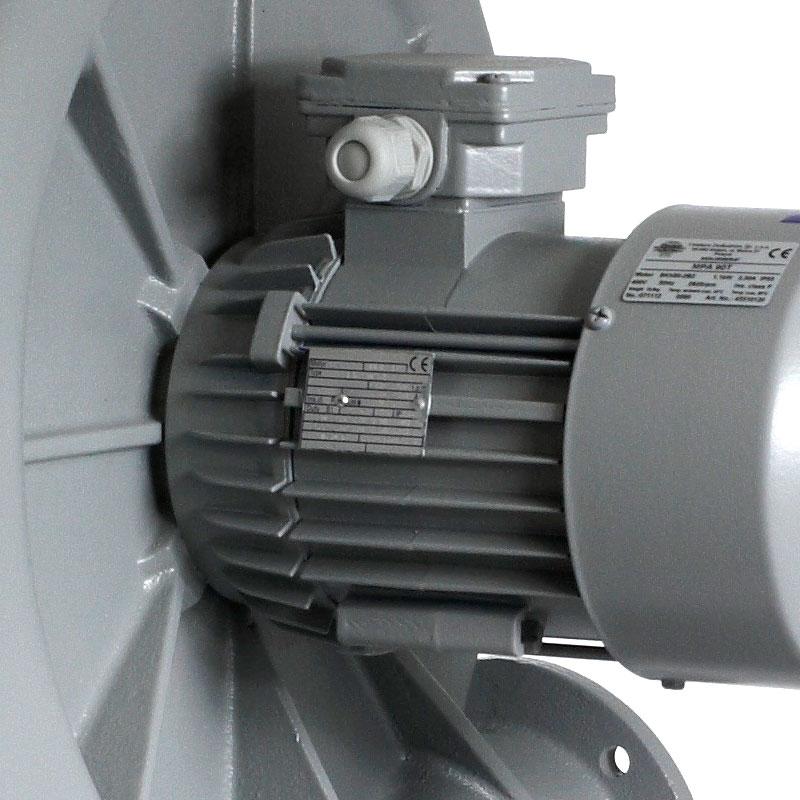 wentylator promieniowy przemysłowy do transportu i odciągu wiórów, trocin, pyłów MPA - silnik