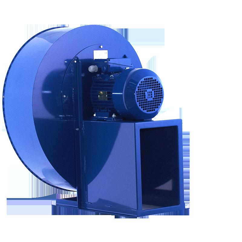 wentylator promieniowy przemysłowy do transportu i odciągu wiórów, trocin, pyłów spalin MPB - tył