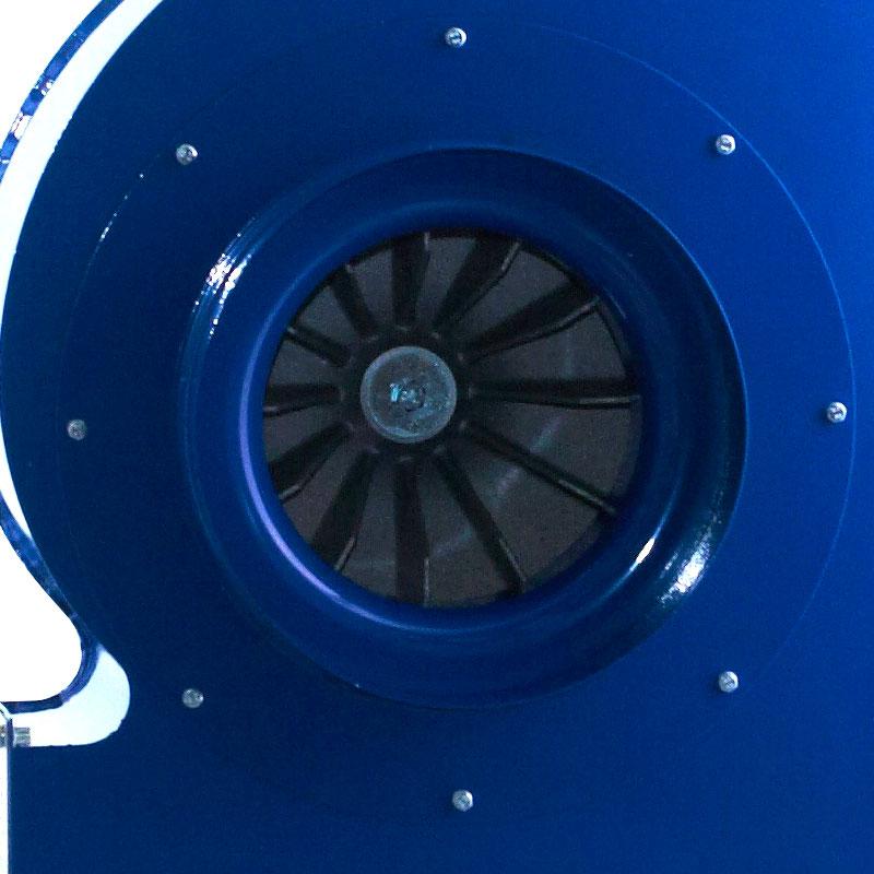 wentylator promieniowy przemysłowy do transportu i odciągu wiórów, trocin, pyłów spalin MPB - wirnik