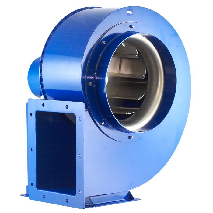 wentylator promieniowy przemysłowy do wiórów, trocin, pyłów spalin MPB Venture Industries - wrinik stalowy