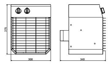 nagrzewnice elektryczne ELV na statki 440V 60Hz - wymiary