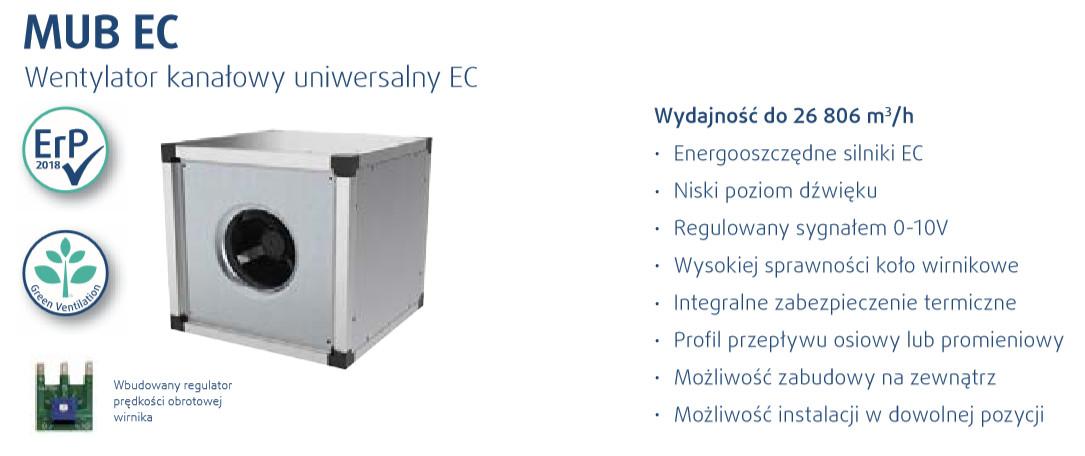 wentylator kanałowy MUB EC Systemair