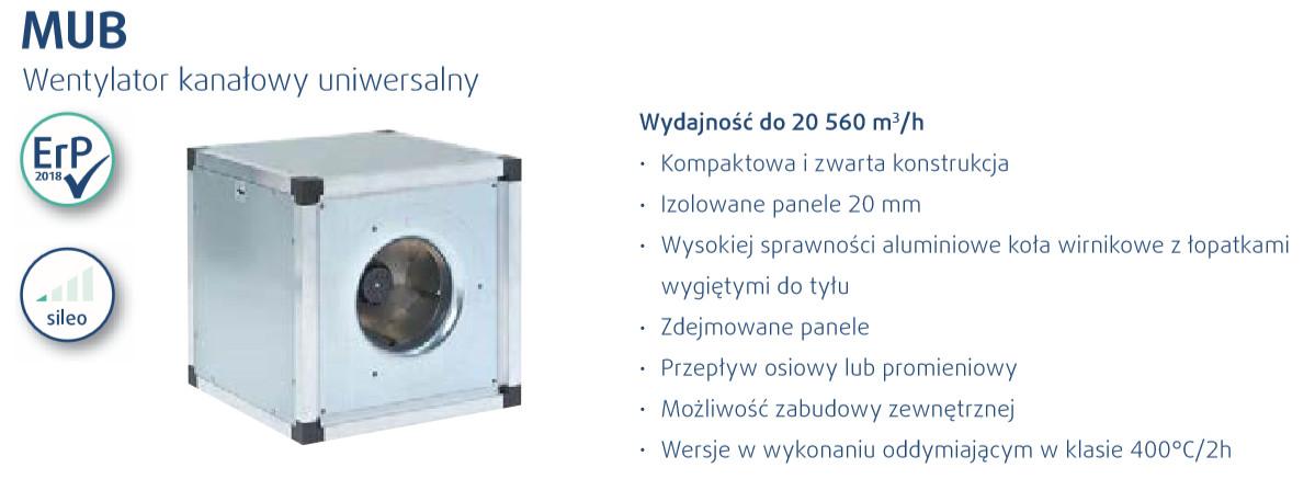 wentylator kanałowy MUB Systemair
