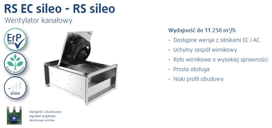 wentylatory kanałowe RS sileo systemair