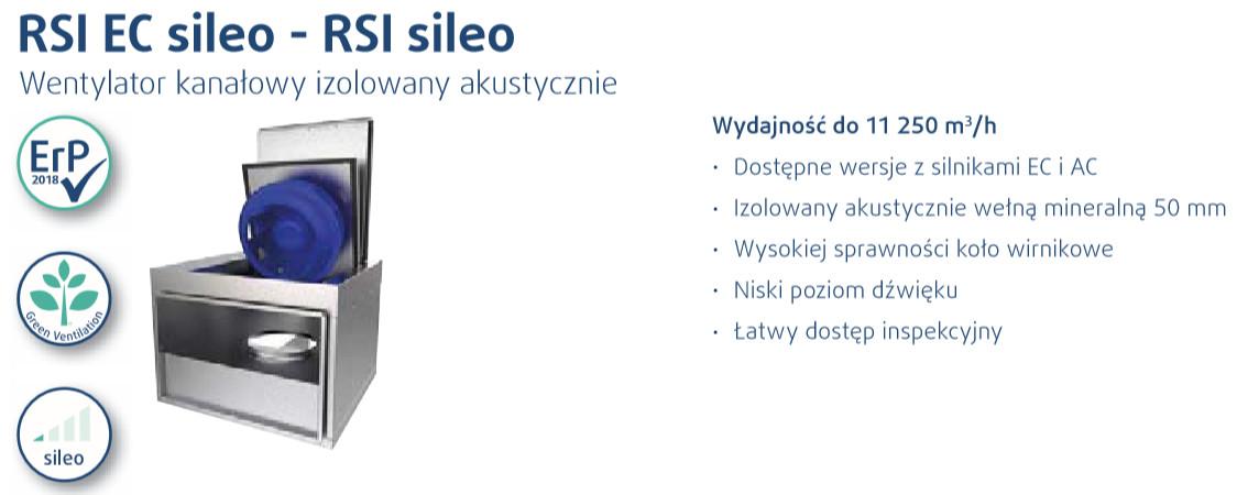 wentylatory kanałowe RSI sileo systemair